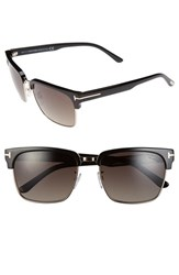 Tom Ford Women's 'River' 57Mm Polarized Vintage Square Sunglasses