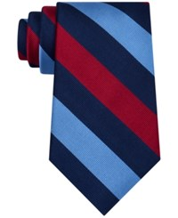 Club Room Men's Triple Bar Stripe Tie Only At Macy's Red