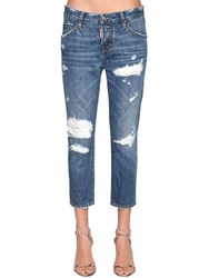 Dsquared Cool Girl Cropped Denim Jeans Blue