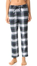 Sleepy Jones Marina Pajama Pants Navy Green White