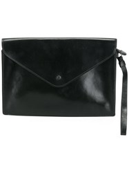 Hermes Vintage Envelope Clutch Bag Black