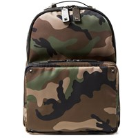 Valentino Ballistic Camouflage Backpack Green