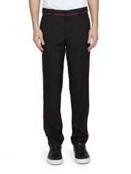 Givenchy Piped Wool Blend Pants Black