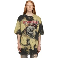 R 13 R13 Black And Yellow Oversized Exploited Punk T Shirt