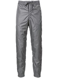 Thom Browne Elasticated Cuffs Track Pants Grey
