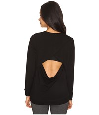 Beyond Yoga Cozy Fleece Breeze Pullover Black Women's Fleece