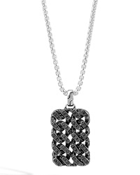 Classic Chain Gourmette Lava Dog Tag Necklace John Hardy