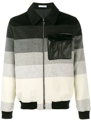 J.W.Anderson J.W. Anderson Striped Bomber Jacket Black