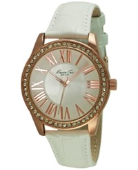 Kenneth Cole New York Women's White Leather Strap Watch 38Mm 10029553