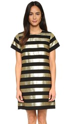 Marc By Marc Jacobs Striped Mini Dress Gold Multi