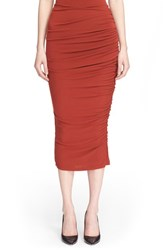 Women's Alice Olivia 'Mindie' Long Ruched Pencil Skirt