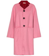 Marni Reversible Wool And Cashmere Coat Pink