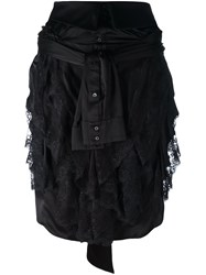 Faith Connexion Wrap Shirt Skirt Black