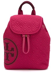Tory Burch Quilted Logo Backpack