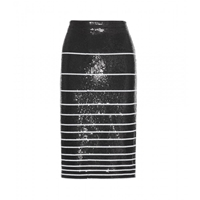 Alice Olivia Rue Sequin Skirt Black White