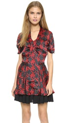 Just Cavalli Short Sleeve Dress Raspberry