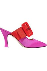 Attico Two Tone Faille Mules Pink