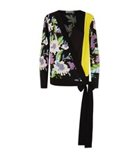 Diane Von Furstenberg Cross Over Floral Blouse Female Multi