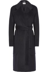 Acne Studios Carice Oversized Wool And Cashmere Blend Coat Midnight Blue