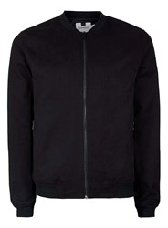 Topman Black Cotton Lightweight Bomber Jacket
