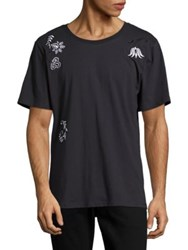 Laboratory Lt Man Embroidered Patches Tee Black