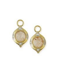 Jude Frances Moroccan 18K Morganite Earring Charms With Diamonds Gold