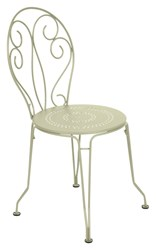 Fermob Montmartre Stacking Side Chair Set Of 2 Rosemary Textured White