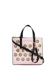 Marc Jacobs Lurex Polka Dot Mini Grind Tote Pink