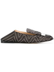 Sergio Rossi Studded Loafers Brown