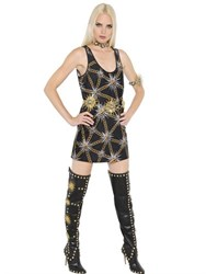 Fausto Puglisi Chains Printed Lycra Tank Top Dress
