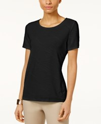 Jm Collection Jacquard T Shirt Only At Macy's Deep Black