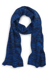 The Rail 'Zigzag Space Dye' Knit Scarf Black Cobalt