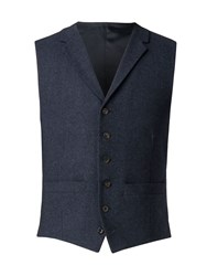 Racing Green Navy Donegal Waistcoat Blue