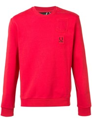 Fred Perry Raf Simons X Pocket Patch Sweatshirt Red