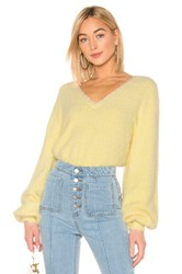 C Meo Collective Confine Knit Sweater In Butter Yellow