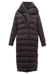 Herno Bon Bon Shawl Collar Nylon Coat Black