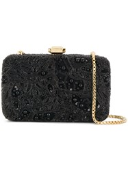 Elie Saab Beaded Chain Clutch Bag Black