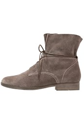 Gabor Laceup Boots Wallaby Grey