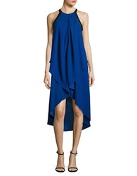 Mika And Gali Colorblock Asymmetric Hem Dress Sapphire Black