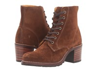 Frye Sabrina 6G Lace Up Wood Oiled Suede Women's Lace Up Boots Brown