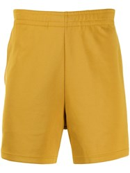 Acne Studios Face Pack Track Shorts Yellow