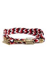 Kiel James Patrick 'New England Jack' Wrap Bracelet Red White Navy