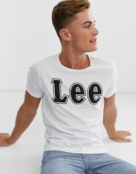 Lee Logo T Shirt In White