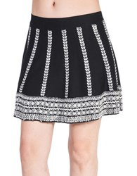 California Moonrise High Priestess Sweater Knit Skater Nomad Skirt Black