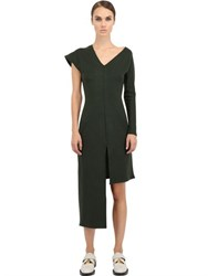 J.W.Anderson Asymmetric Techno Ribbed Jersey Dress