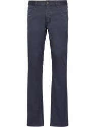 Prada Low Rise Tapered Jeans Blue