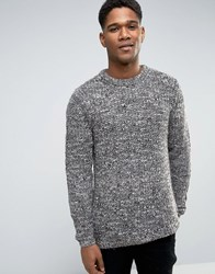 New Look Jumper With Brown Marl Brown Pattern