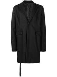 Unravel Project Oversized Single Breasted Coat Black
