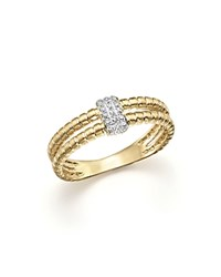 Kc Designs Diamond Double Band Ring In 14K Yellow Gold .10 Ct. T.W. White Gold