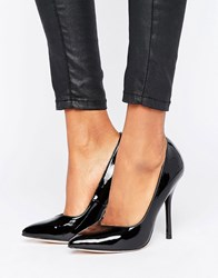 Paper Dolls Pointed Stiletto Court Shoe Black